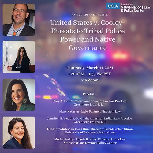 Poster from United States v. Cooley: Threats to Tribal Police Power and Native Governance