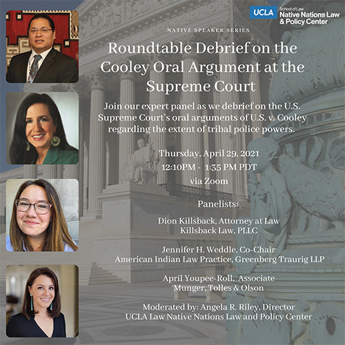 Poster from Roundtable Debrief on the Cooley Oral Argument at the Supreme Court
