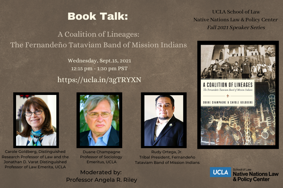 Flyer for A Coalition of Lineages: The Fernandeño Tataviam Band of Mission Indians