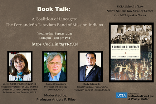 Flyer for Book Talk: A Coalition of Lineages: The Fernandeño Tataviam Band of Mission Indians