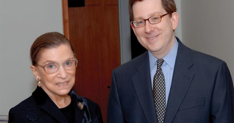 Justice Ruth Bader Ginsburg and former UCLA Law Dean Michael Schill