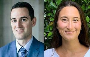 UCLA Law Class of 2020 members Kaveh Landsverk (left) and Nicole Englanoff-Herzberg earned fellowships at the Children's Law Center of California.