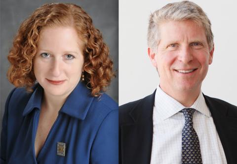 UCLA Law Dean Jennifer Mnookin and Manhattan DA Cyrus Vance Jr