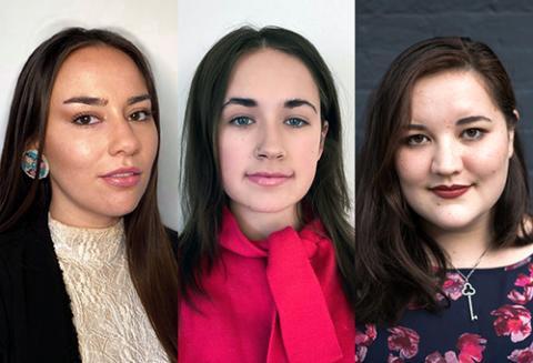 UCLA Law students Ashley Anderson, Shara Burwell, and Rachel Hsu