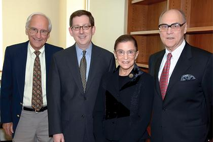 Justice Ruth Bader Ginsburg with UCLA Law faculty members.