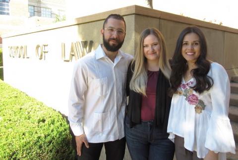 Stephano Medina '20, Kelsey White '20 and Eliana Navarro Gracian '20 are UCLA Law's latest Skadden Fellowship recipients.