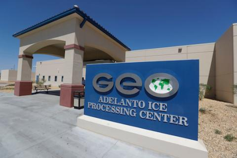 UCLA Law's Criminal Defense Clinic secured the release of their client, an inmate at the Adelanto ICE Processing Center in San Bernardino (pictured), on April 10.
