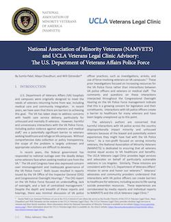 Veterans Legal Clinic Police Advisory
